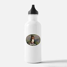 Aussie in the Bluebonnets Water Bottle