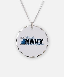 Daughter Combat Boots - NAVY Necklace