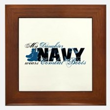 Daughter Combat Boots - NAVY Framed Tile