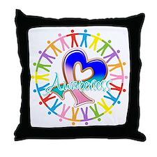 Thyroid Cancer Unite Throw Pillow