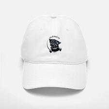 Black Pug IAAM Baseball Baseball Cap