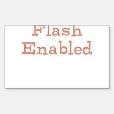 Funny Slogan Flash Enabled qu Decal