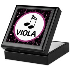 Viola Music Notes Keepsake Box