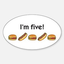 I'm five! Oval Decal