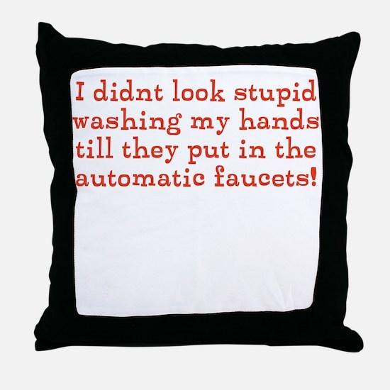 Hand Washing Humor Throw Pillow