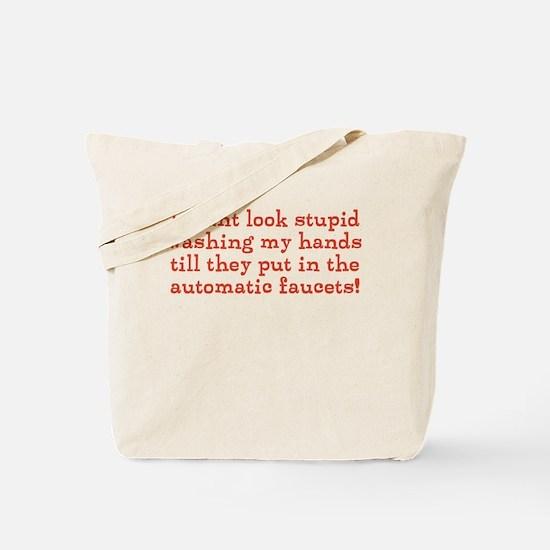 Hand Washing Humor Tote Bag