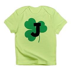 Irish Shamrock Letter J Infant T-Shirt