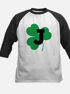 Irish Shamrock Letter J Tee