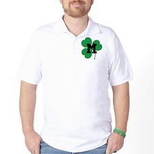 Irish Shamrock Letter M T-Shirt