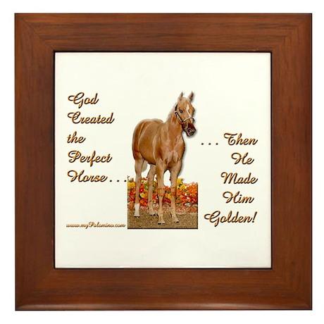Golden Palomino Framed Tile