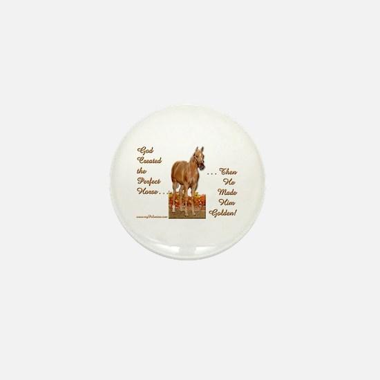 Golden Palomino Mini Button