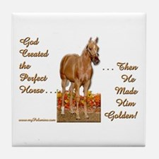 Golden Palomino Tile Coaster