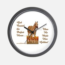 Golden Palomino Wall Clock