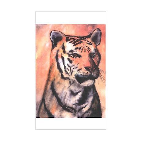 Tiger Print Sticker (Rectangle)