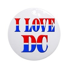 I Love DC Ornament (Round)
