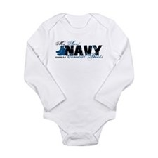 Aunt Combat Boots - NAVY Long Sleeve Infant Bodysu