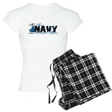 Aunt Combat Boots - NAVY pajamas