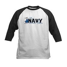 Aunt Combat Boots - NAVY Tee