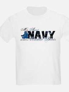Aunt Combat Boots - NAVY T-Shirt
