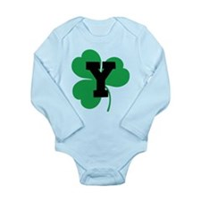 Irish Shamrock Letter Y Long Sleeve Infant Bodysui