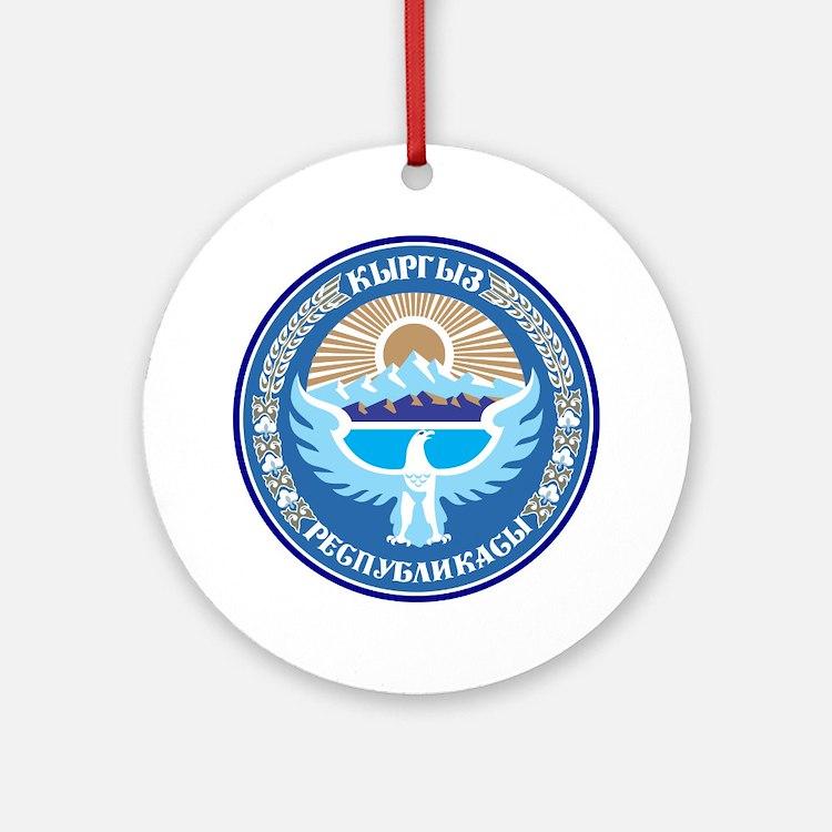 Kyrgystan Emblem Ornament (Round)