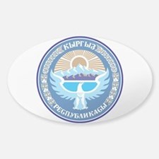 Kyrgystan Emblem Sticker (Oval)