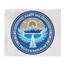 Kyrgystan Emblem Throw Blanket