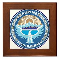 Kyrgystan Emblem Framed Tile