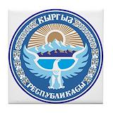 Kyrgyzstan Tile Coasters