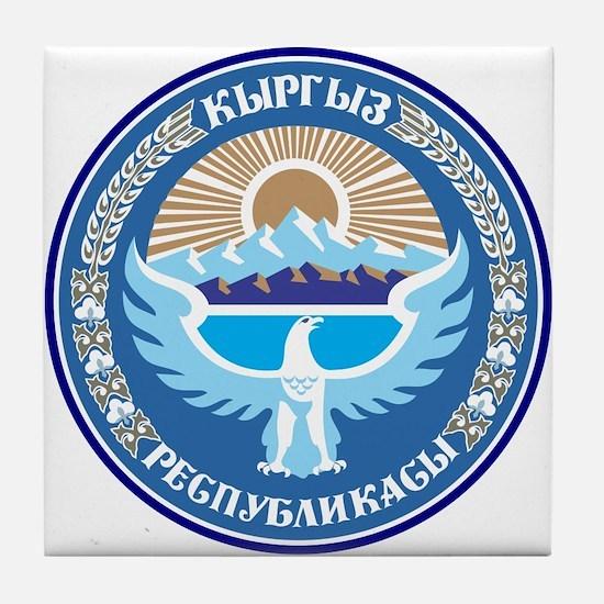 Kyrgystan Emblem Tile Coaster