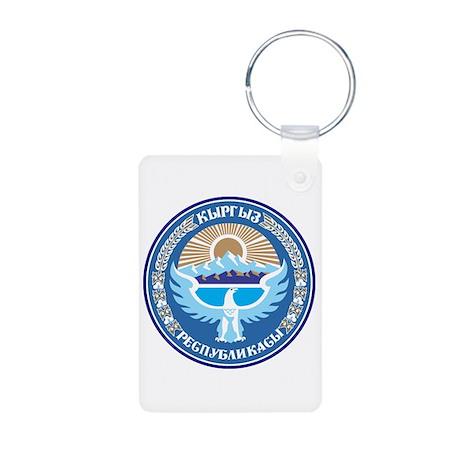 Kyrgystan Emblem Aluminum Photo Keychain