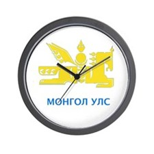 Mongolia emblem Wall Clock