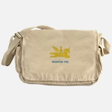 Mongolia emblem Messenger Bag