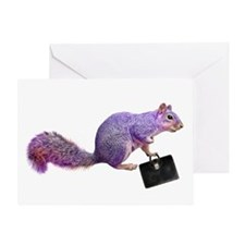 Purple Squirrel Greeting Card