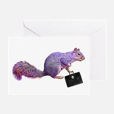 Purple Squirrel Greeting Card