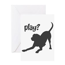 play? Labrador Greeting Card