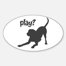 play? Labrador Decal