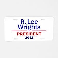 Unique Libertarian 2012 Aluminum License Plate