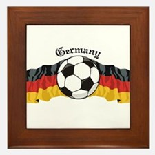 German Soccer / Germany Soccer Framed Tile