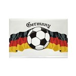 German Soccer / Germany Soccer Rectangle Magnet (1
