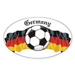 German Soccer / Germany Soccer Oval Sticker