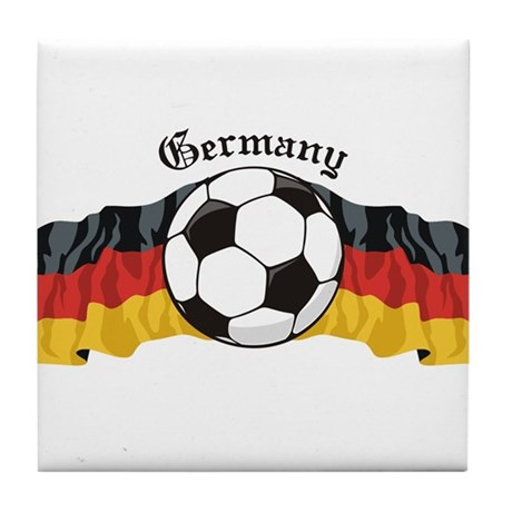 German Soccer / Germany Soccer Tile Coaster