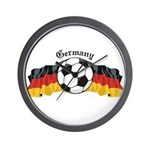 German Soccer / Germany Soccer Wall Clock