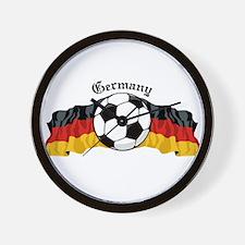 German Soccer / Germany Soccer Wall Clock