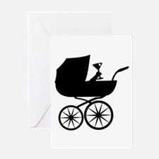 Baby Buggy Greeting Card
