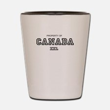 property of canada Shot Glass