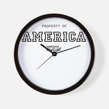 property of america Wall Clock