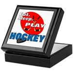 Eat Sleep Play Hockey Keepsake Box