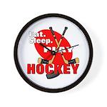 Eat Sleep Play Hockey Wall Clock