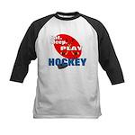 Eat Sleep Play Hockey Kids Baseball Jersey